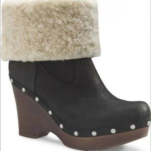UGG suede wooden boots